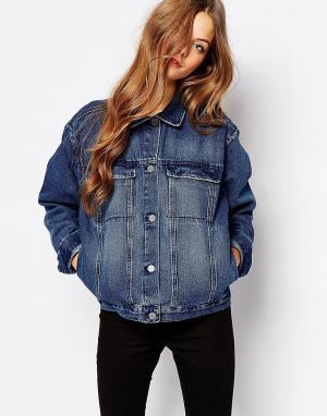 Джинсовая куртка бойфренда Karin Waven. Цвет: синий