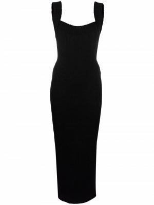 Приталенное платье 1990-х годов с открытой спиной Alaïa Pre-Owned. Цвет: черный
