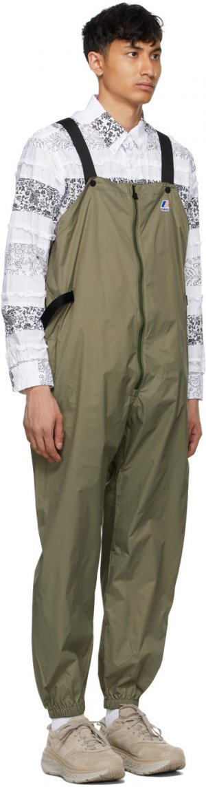 Khaki K-Way Edition Packable Perry 3.0 Overalls Engineered Garments. Цвет: khaki