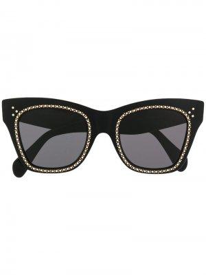Солнцезащитные очки в оправе кошачий глаз Celine Eyewear. Цвет: черный