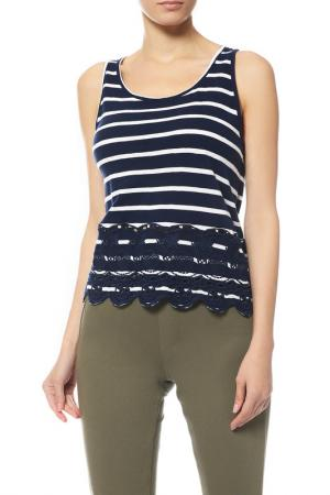 Майка Superdry. Цвет: jng navy, white stripe
