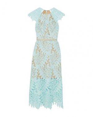 Платье длиной 3/4 CATHERINE DEANE. Цвет: небесно-голубой
