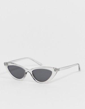 Прозрачные солнцезащитные очки кошачий глаз AJ Morgan. Цвет: очистить