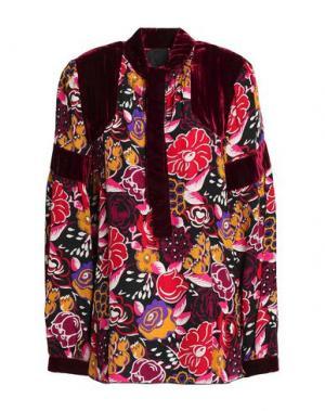 Блузка ANNA SUI. Цвет: красно-коричневый