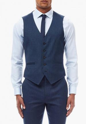 Жилет Burton Menswear London BU014EMDBDJ0. Цвет: синий