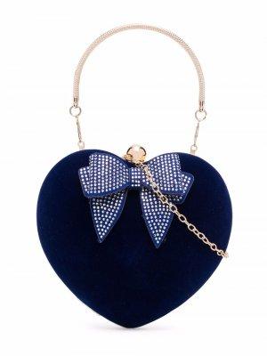 Heart shoulder bag Monnalisa. Цвет: синий