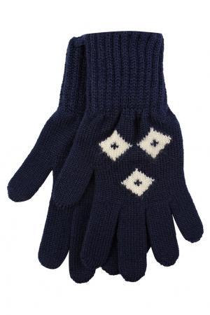 Синие вязаные перчатки Dolce&Gabbana Children. Цвет: синий