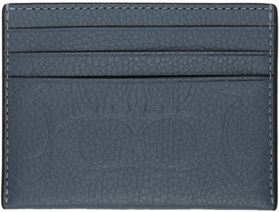 Blue Leather Signature Card Holder Coach 1941. Цвет: bluequartz