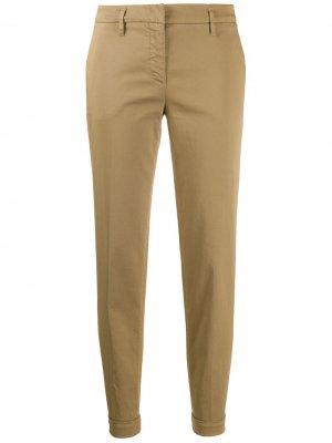 Укороченные брюки чинос средней посадки Aspesi. Цвет: нейтральные цвета