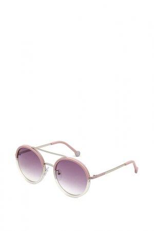Очки солнцезащитные Carolina Herrera. Цвет: розовый