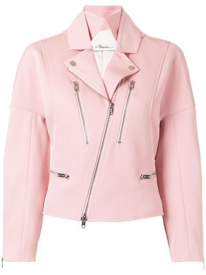 Байкерская куртка 3.1 Phillip Lim. Цвет: розовый