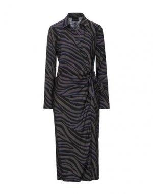 Платье длиной 3/4 ATOS LOMBARDINI. Цвет: серый