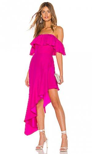 Платье camellia Amanda Uprichard. Цвет: розовый