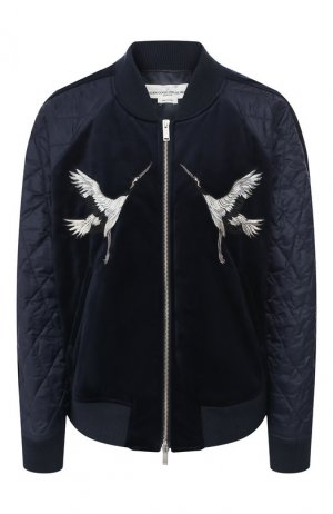 Бомбер Golden Goose Deluxe Brand. Цвет: синий