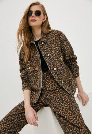 Куртка джинсовая Essentiel Antwerp ZEAGLE. Цвет: коричневый