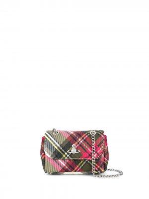Маленькая сумка-сэтчел в клетку тартан Vivienne Westwood. Цвет: зеленый