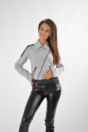 Куртка CocoGio. Цвет: серый