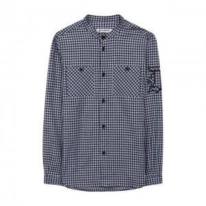 Хлопковая рубашка Dondup. Цвет: синий