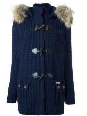 Пальто с капюшоном Bark. Цвет: синий