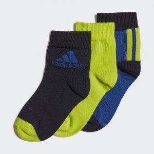 Три пары носков Ankle Performance adidas. Цвет: зеленый