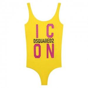 Слитный купальник Dsquared2. Цвет: жёлтый