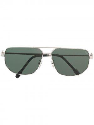 Солнцезащитные очки-авиаторы Fred. Цвет: серебристый