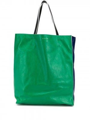 Большая сумка-тоут Marni. Цвет: зеленый
