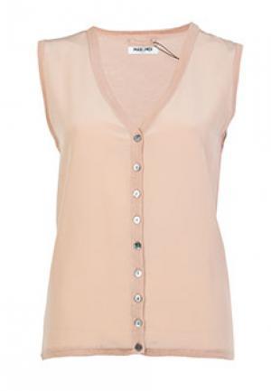 Блуза MAX & MOI. Цвет: бежевый
