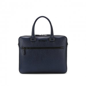 Кожаная сумка для ноутбука Salvatore Ferragamo. Цвет: синий