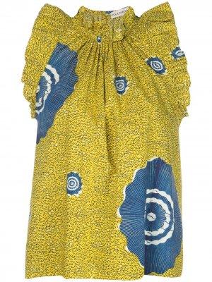 Блузка Tilda без рукавов Ulla Johnson. Цвет: желтый