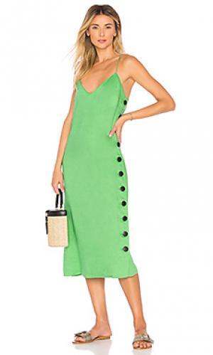 Платье heidi Mara Hoffman. Цвет: зеленый