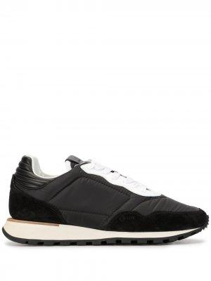 Кроссовки в двух тонах Dunhill. Цвет: черный