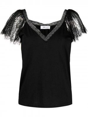 Блузка с кружевом Blumarine. Цвет: черный