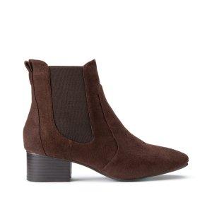 Ботинки-челси LaRedoute. Цвет: каштановый