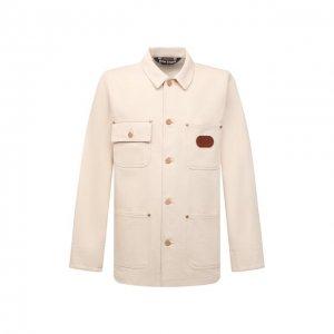 Джинсовая куртка x Missoni Palm Angels. Цвет: кремовый