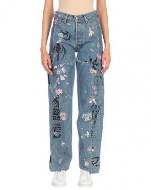 Джинсовые брюки VETEMENTS x LEVI'S. Цвет: синий