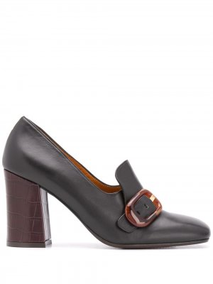 Туфли на высоком каблуке с пряжками Chie Mihara. Цвет: черный