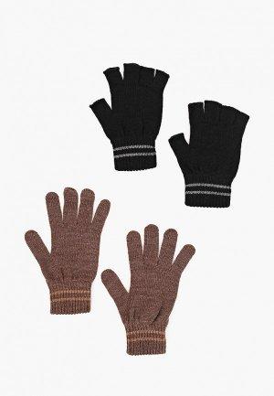 Перчатки 2 пары DeFacto. Цвет: разноцветный