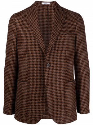 Пиджак в ломаную клетку Boglioli. Цвет: коричневый