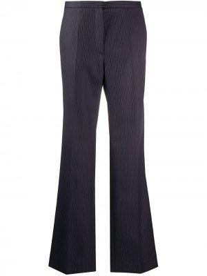 Расклешенные брюки в тонкую полоску Nina Ricci. Цвет: синий