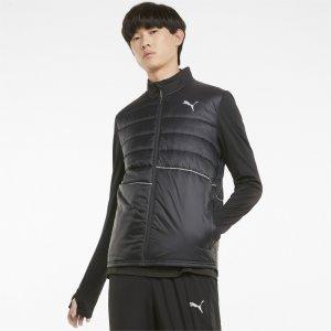 Куртка Elevated Padded Mens Running Jacket PUMA. Цвет: черный