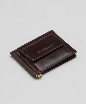 Зажим для денег HENDERSON. Цвет: темно-коричневый