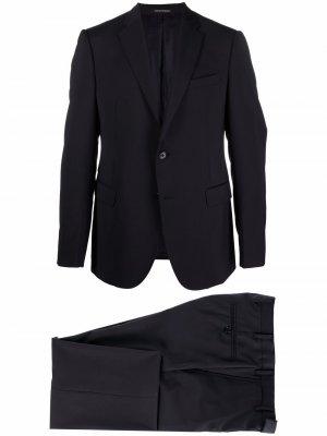 Костюм с однобортным пиджаком Emporio Armani. Цвет: синий