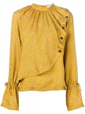 Блузка асимметричного кроя с принтом пейсли Derek Lam 10 Crosby. Цвет: желтый