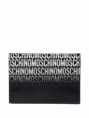 Картхолдер с логотипом Moschino. Цвет: черный