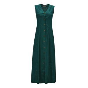 Платье длинное без рукавов с застежкой на пуговицы спереди JOE BROWNS. Цвет: зеленый