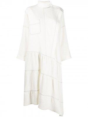 Платье миди свободного кроя By Malene Birger. Цвет: белый