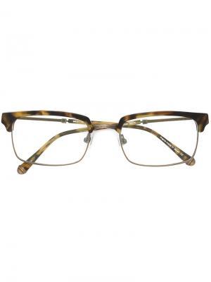 Очки в квадратной оправе Matsuda. Цвет: коричневый