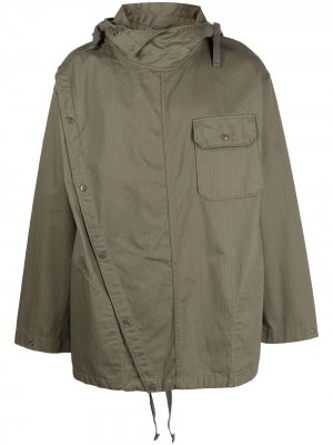 Куртка Sonor асимметричного кроя с капюшоном Engineered Garments. Цвет: зеленый