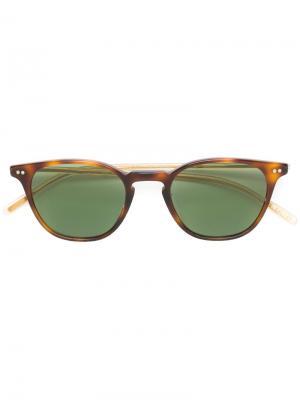 Солнцезащитные очки Hanks в круглой оправе Oliver Peoples. Цвет: коричневый
